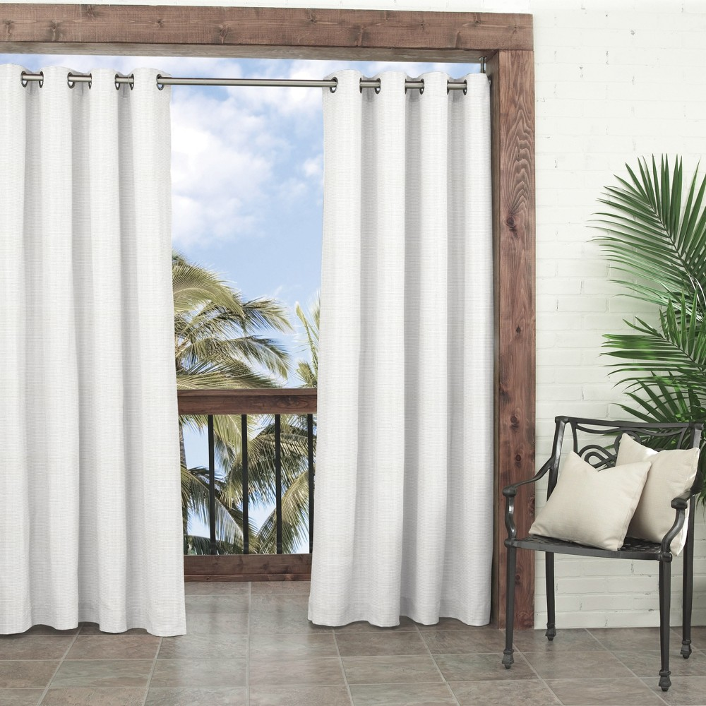 Key Largo Indoor/Outdoor Curtain Panels White 108 - Parasol