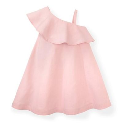 Hope & Henry Girls' One Shoulder Flounce Dress, Infant