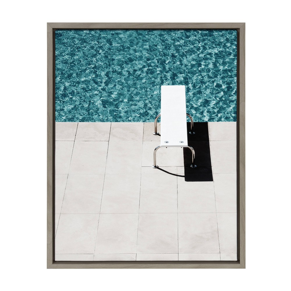 "Image of ""18"""" x 24"""" Sylvie Diving Board Framed Canvas Wall Décor By Amy Peterson - DesignOvation"""
