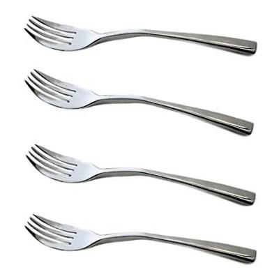 Knork 4 Piece 18/0 Stainless Steel Dining Silverware Flatware Original Dinner Fork Set, Silver Chrome