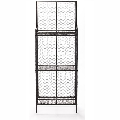 Lakeside 3-Tier Storage Shelf with Wire Metal for Pantry, Bathroom, Garage Organization
