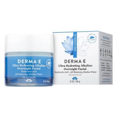 DERMA E Ultra Hydrating Alkaline Overnight Facial - 2oz