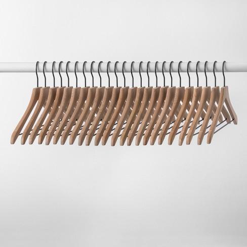 24pk Wood Hanger Natural - Made By Design™ - image 1 of 4