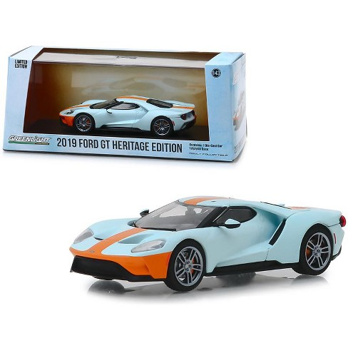 """2019 Ford GT Heritage Edition """"Gulf Oil"""" Color Scheme 1/43 Diecast Model Car by Greenlight - image 1 of 3"""