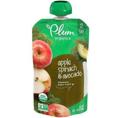 Plum Organics Apple Spinach & Avocado Baby Food - 3.5oz