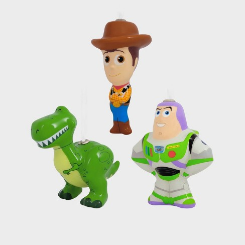 Toy Story Christmas Ornaments.Disney Toy Story Woody Buzz And Rex Christmas Ornament Set