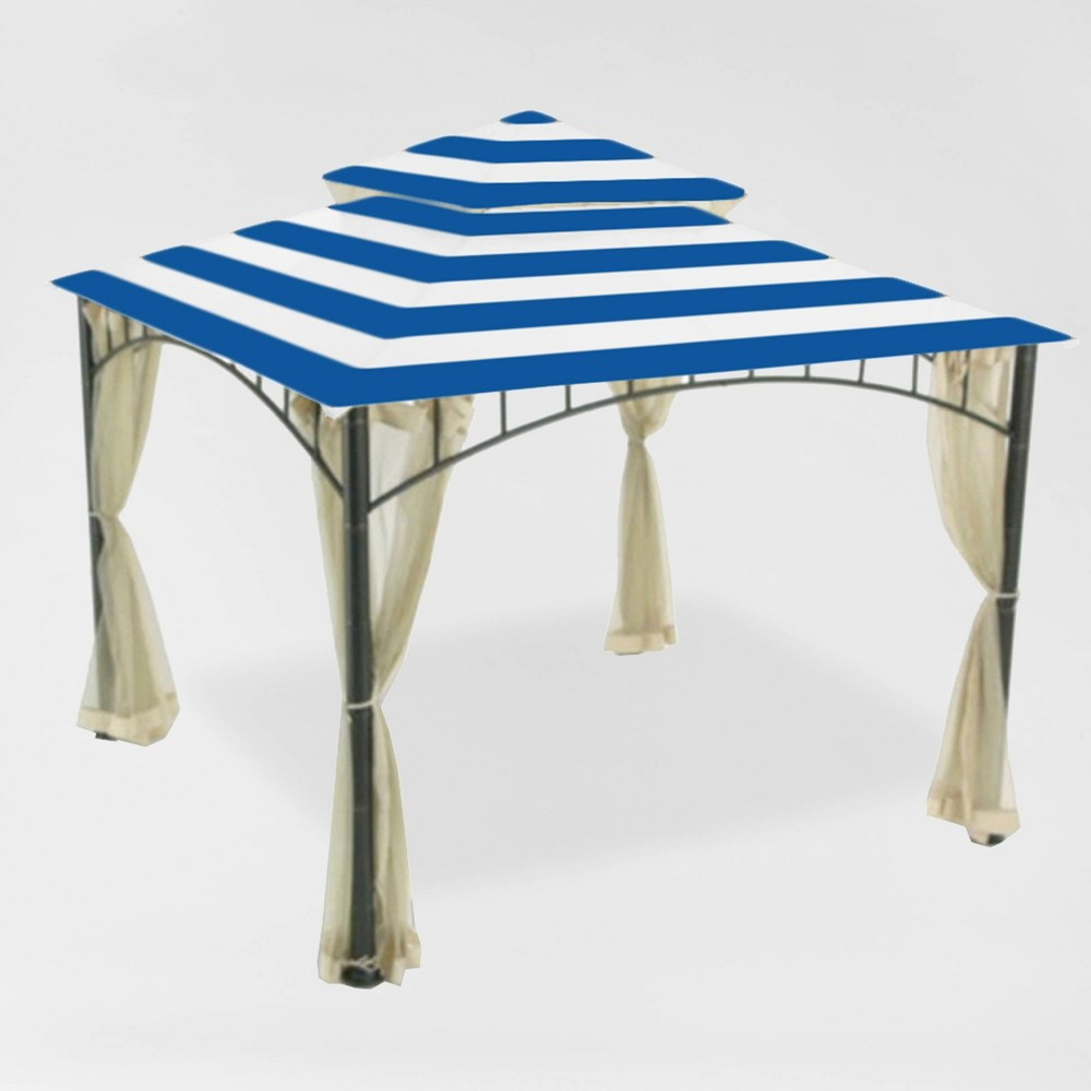 Image of Madaga Replacement Canopy Cabana Blue - Garden Winds