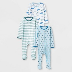 Baby Boys' 3pk Sleepy Tides Zip-Up Sleep N' Play - Cloud Island™