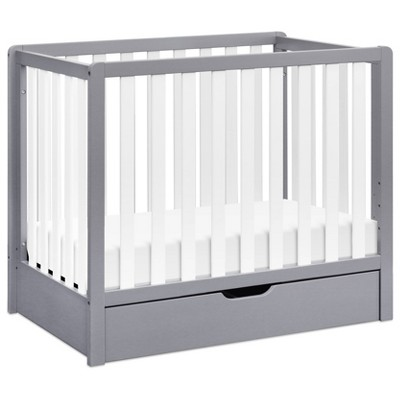 Carter's by DaVinci Colby 4-in-1 Convertible Mini Crib with Trundle - Gray/White