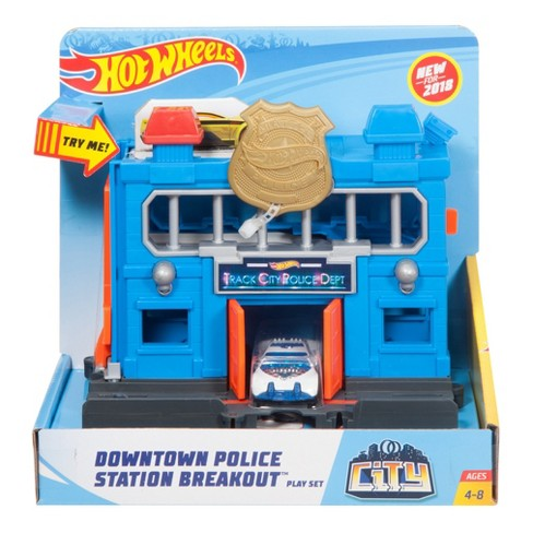Hot Wheels City Downtown Police Station Breakout Playset - image 1 of 4