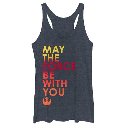 Women's Star Wars The Last Jedi May the Force Racerback Tank Top