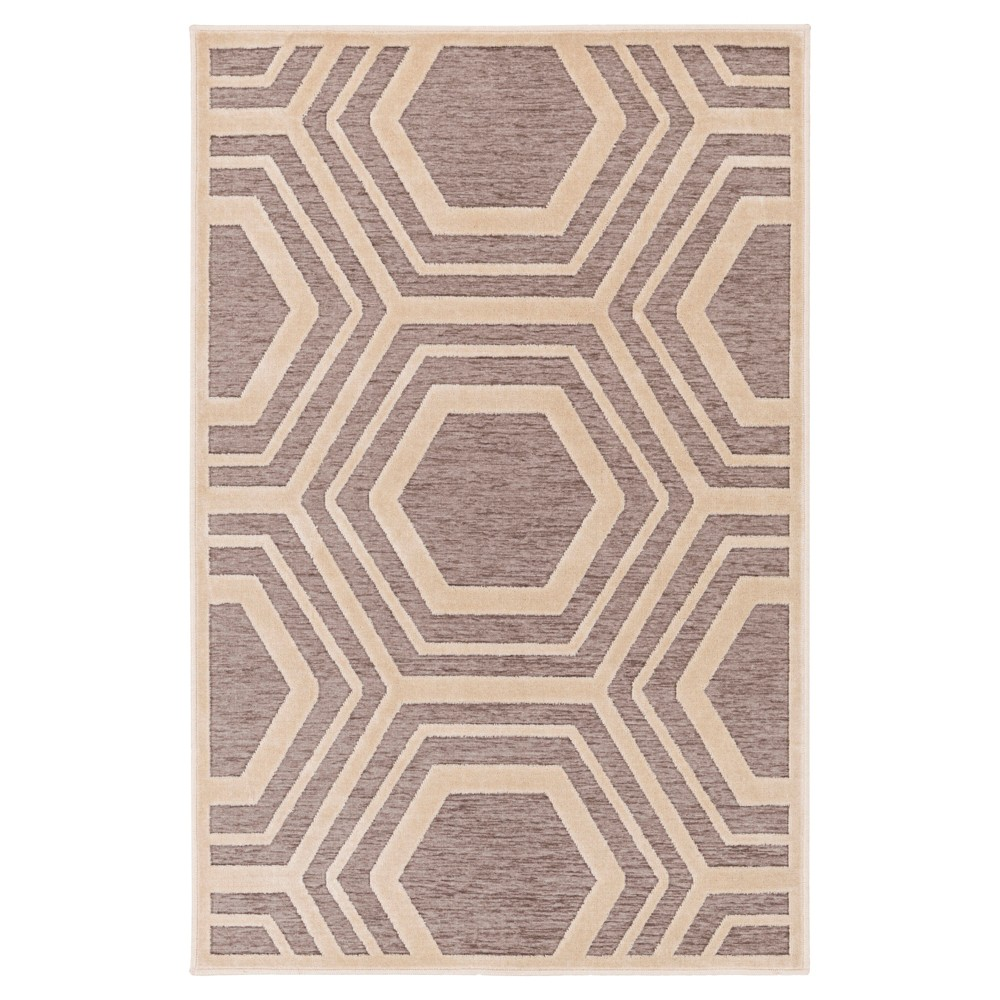 Gray Abstract Tufted Accent Rug - (4'X5'7) - Surya