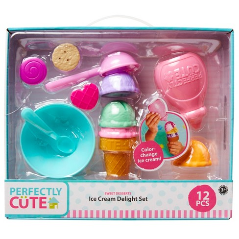Perfectly Cute Ice Cream Delight Play Food and Kitchen Accessory Set