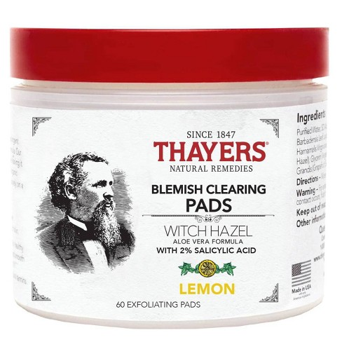 Thayers Natural Remedies Witch Hazel Blemish Pads - 60ct - image 1 of 3