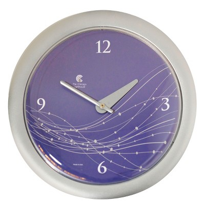 """Chicago Lighthouse 14""""x1.8"""" Vines And Dots Decorative Wall Clocks"""
