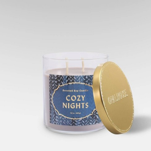 Lidded Glass Jar Candle Cozy Nights - Opalhouse™ - image 1 of 2