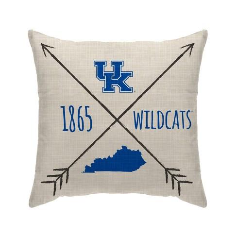 Ncaa Kentucky Wildcats Cross Arrow Decorative Throw Pillow Target