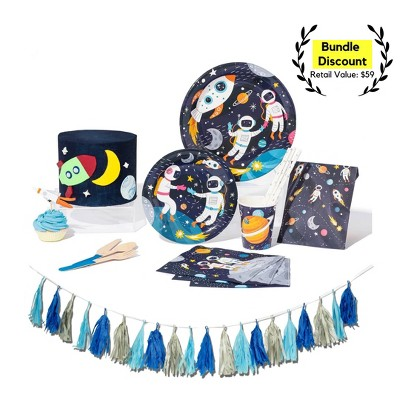 91pc Space Party Supplies Great Value Essential Kit