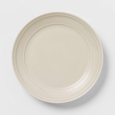 """11.2"""" Porcelain Courtland Dinner Plate White - Threshold™"""