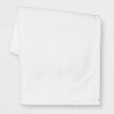Solid Plush Throw Blanket White - Room Essentials™