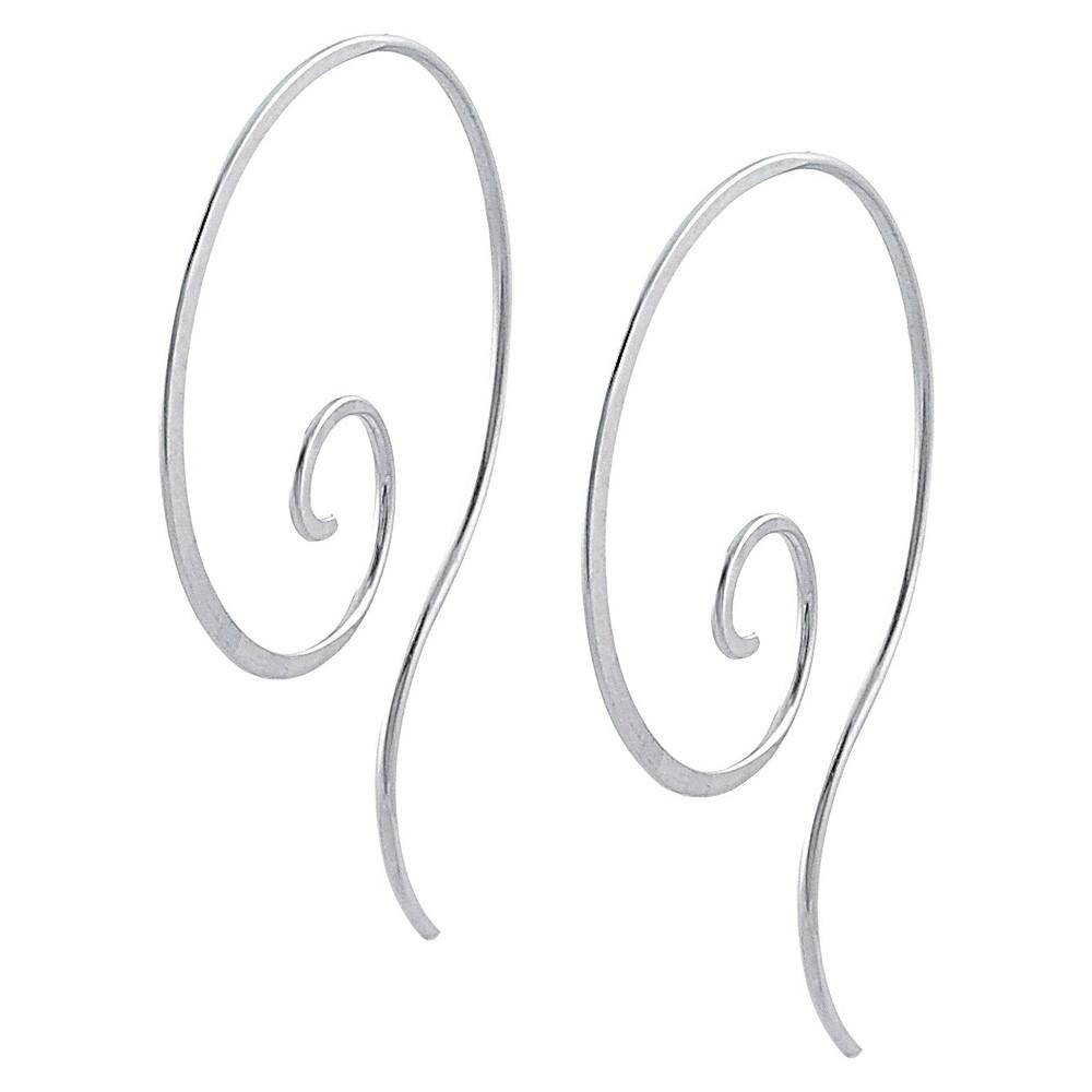 Women's Tressa Collection Hoop Earrings in Sterling Silver (40MM)