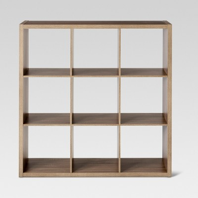 "9-Cube Organizer Shelf Weathered Gray 13"" - Threshold™"