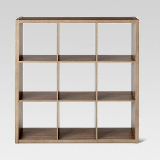 "13"" 9 Cube Organizer Shelf Weathered Gray - Threshold™"