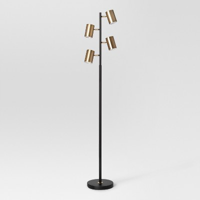 Dean Spotlight Floor Lamp Black/Brass (Includes Energy Efficient Light Bulb)- Project 62™