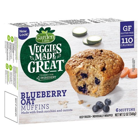 Garden Lites Veggies Made Great Frozen Blueberry Oat Muffins - 12oz/6ct - image 1 of 4