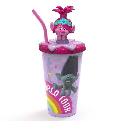 DreamWorks Trolls 2 15oz Plastic Funtastic Tumbler with Lid - Zak Designs
