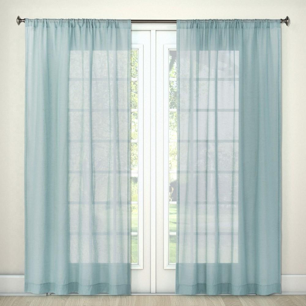 Sheer Curtain Panel Blue 54