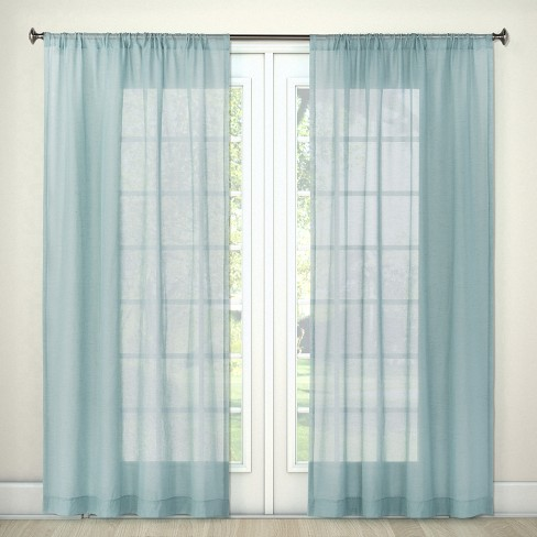"Sheer Linen Curtain Panels 84""x54"" - Threshold™ - image 1 of 2"