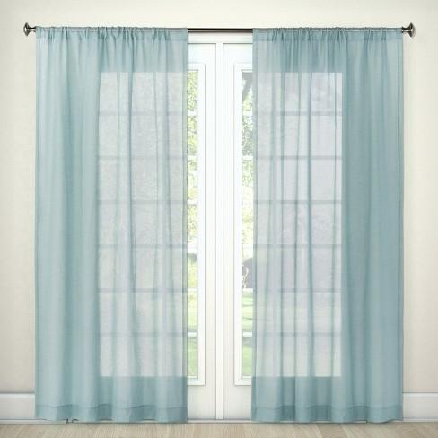 "Sheer Linen Curtain Panels 84""x54"" - Threshold™ - image 1 of 2"