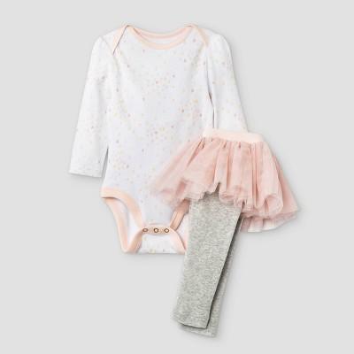 Baby Girls' 2pc Top and Tutu Bottom Set - Cloud Island™ Light Pink 0-3M