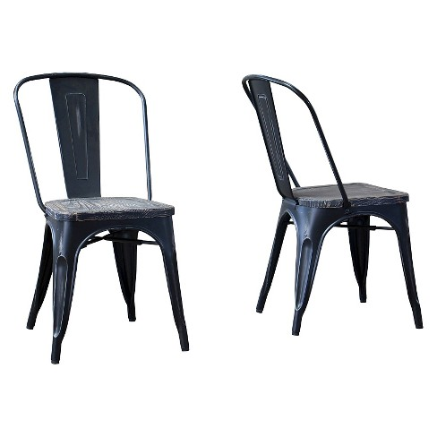 French Industrial Bistro Chair - Black (Set Of 2) - Baxton Studio - image 1 of 4