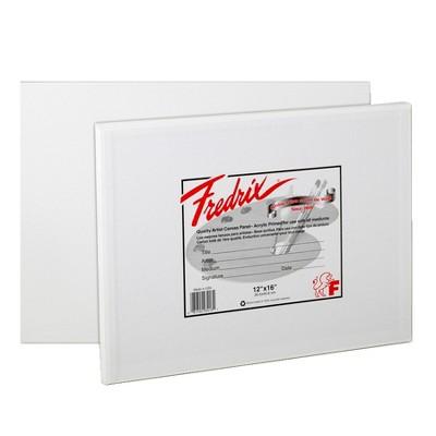 Fredrix Warp Resistant Canvas Panels, 12 x 16 in, pk of 3