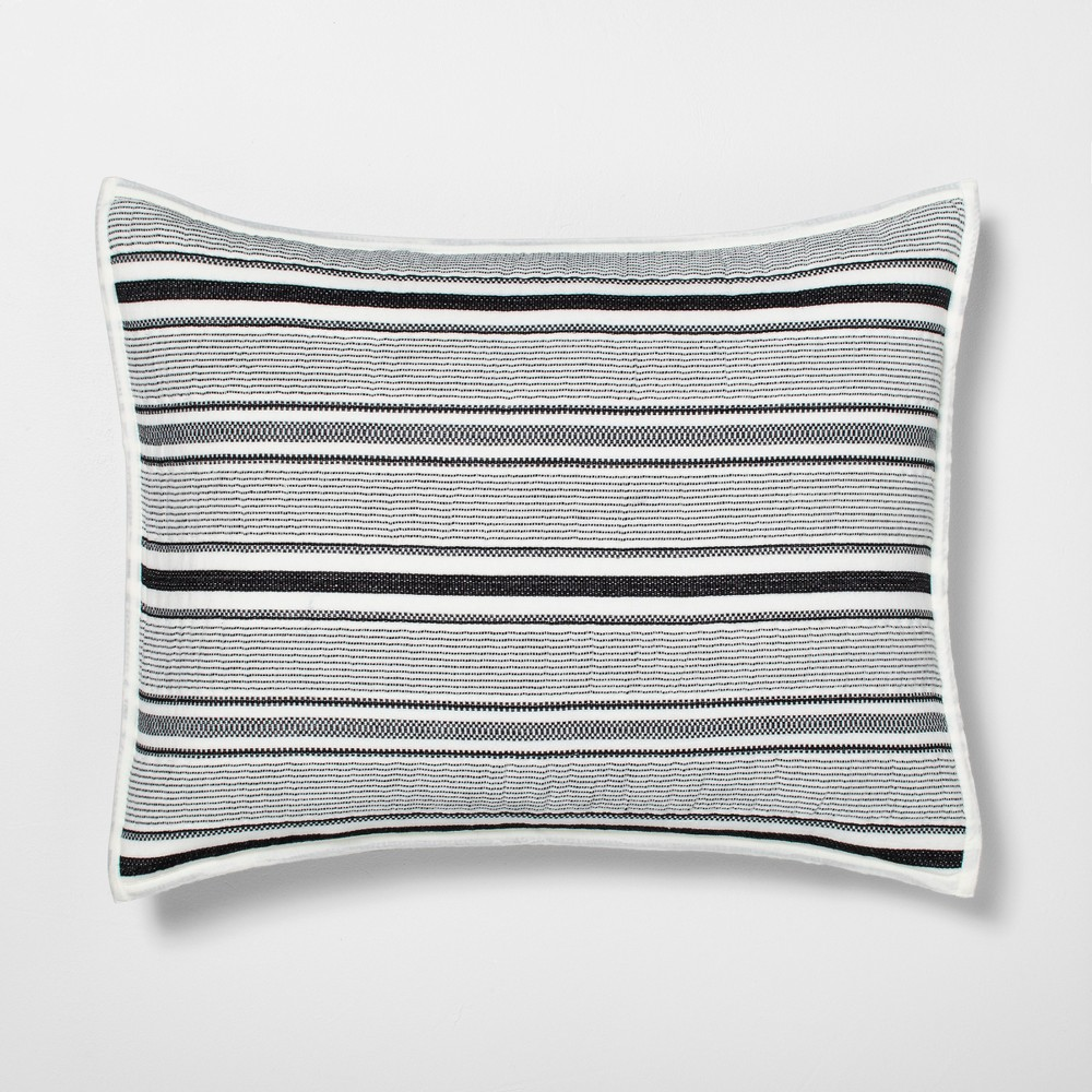 Pillow Sham Textured Stripe Railroad Gray Hearth Hand 8482 with Magnolia