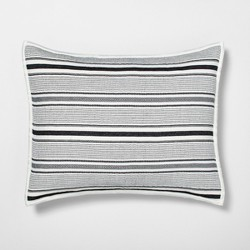 Pillow Sham Textured Stripe Railroad Gray - Hearth & Hand™ with Magnolia