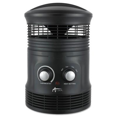 "Alera 360 Deg Circular Fan Forced Heater 8"" x 8"" x 12"" Black HEFF360B"