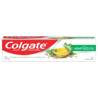 Colgate with Natural Hemp Seed Oil Fluoride Toothpaste - Herbal Mint - 4.6oz