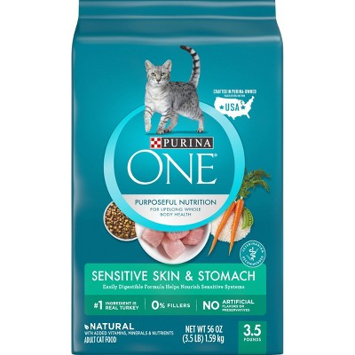Cat Food: Purina ONE Sensitive Skin & Stomach
