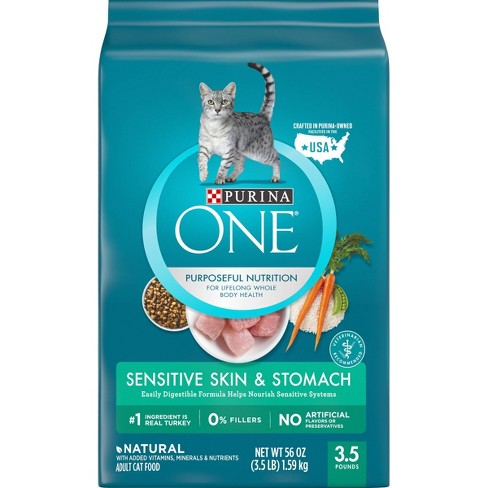 Purina ONE Sensitive Skin & Stomach Adult Premium Dry Cat Food - image 1 of 4
