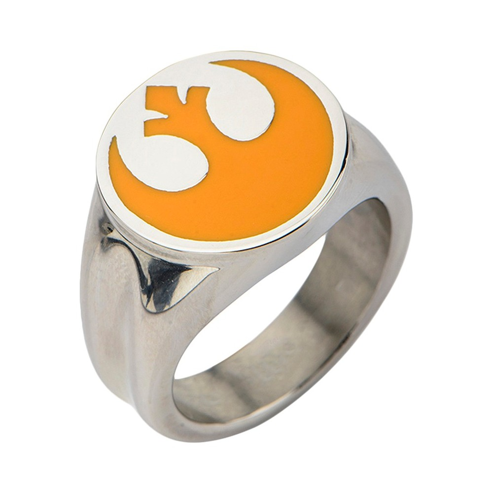 Men's Star Wars Stainless Rebel Alliance Symbol Ring, Size: 11, Silver