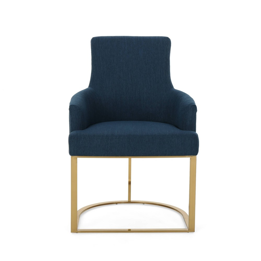 Gloria Modern Glam Chair Navy Blue - Christopher Knight Home was $309.99 now $216.99 (30.0% off)