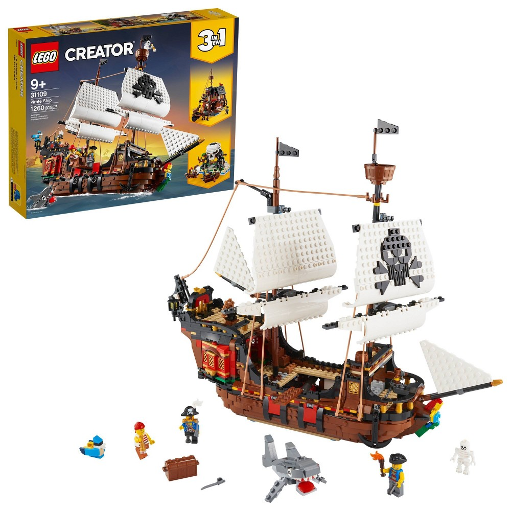 Lego Creator 3in1 Pirate Ship Toy Model Building Kit Playset 31109