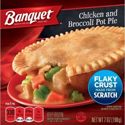 Banquet Frozen Chicken and Broccoli Pot Pie - 7oz