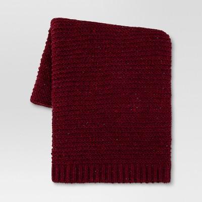 Chenille Throw Blanket (50 x60 )- Berry - Threshold™