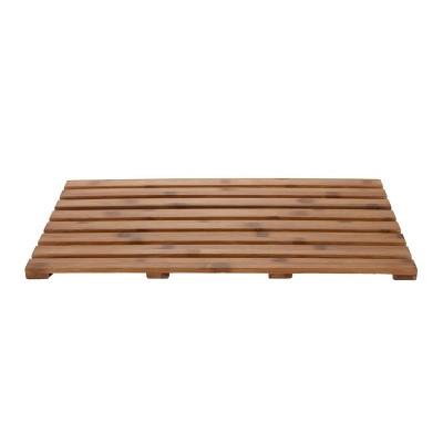"25""x15"" Environmentally Friendly Bamboo Non-Slip Bath Mat Brown - Mind Reader"
