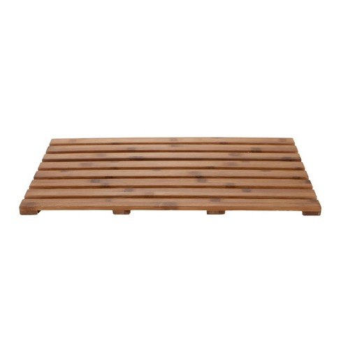 "25""x15"" Environmentally Friendly Bamboo Non-Slip Bath Mat Brown - Mind Reader - image 1 of 4"