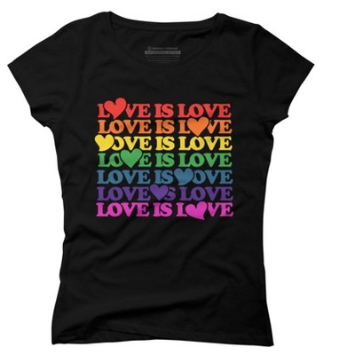 Love is Love Juniors Graphic T-Shirt - Design By Humans